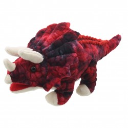 Triceratops (Red) - Baby Dinos Hand Puppet