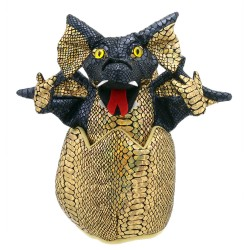 Dragon (Black) - Baby Dragons in Eggs Hand Puppet