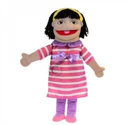 Medium Girl Hand Puppet (Pink Outfit)