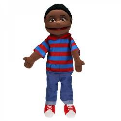 Medium Boy Hand Puppet (Blue/Red Top)