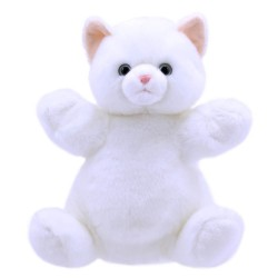 Cat (White) - Cuddly Tumms Hand Puppet