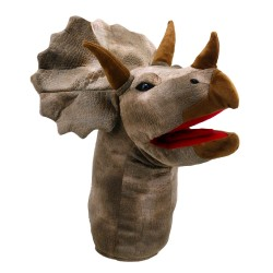 Triceratops - Large Dino Head Hand Puppet