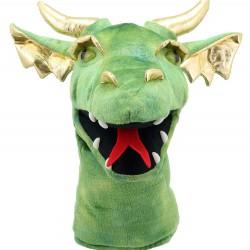 Dragon (Green) - Large Dragon Head Hand Puppet