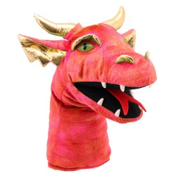 Dragon (Red) - Large Dragon Head Hand Puppet