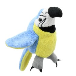 Blue & Gold Macaw - Finger Puppet