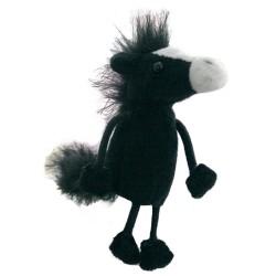 Horse (Black) - Finger Puppet