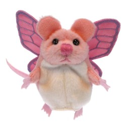 Mouse (Pink With Wings) - Finger Puppet