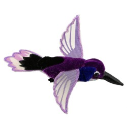 Hummingbird (Purple) - Finger Puppet