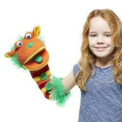 Buttons -  Sockette Glove Puppet