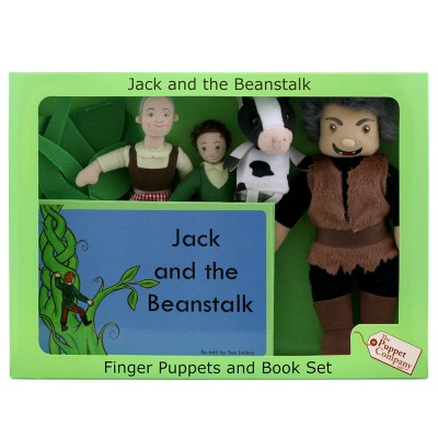 Jack & the Beanstalk - Boxed Book and Finger Puppets Set