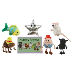 Nursery Rhymes - Boxed Book and Finger Puppets Set