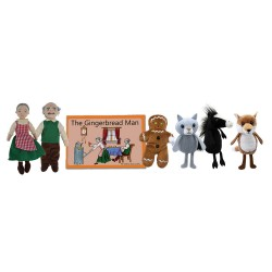 The Gingerbread Man - Boxed Book and Finger Puppets Set