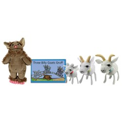 Three Billy Goats Gruff - Boxed Book and Finger Puppets Set