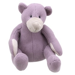 Bear (Purple Large) - Wilberry Knitted Soft Toy
