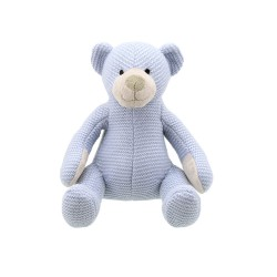 Bear (Blue Small) - Wilberry Knitted Soft Toy