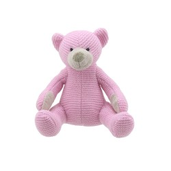 Bear (Pink Small) - Wilberry Knitted Soft Toy
