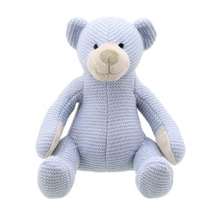 Bear (Blue Medium) - Wilberry Knitted Soft Toy