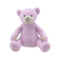 Bear (Pink Medium) - Wilberry Knitted Soft Toy