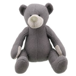 Bear (Grey Large) - Wilberry Knitted Soft Toy