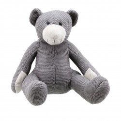 Bear (Grey Medium) - Wilberry Knitted Soft Toy