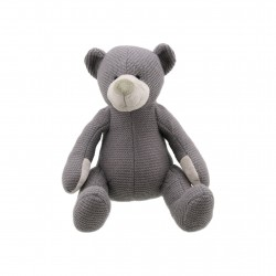 Bear (Grey Small) - Wilberry Knitted Soft Toy