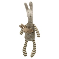 Kangaroo (Brown) - Wilberry Knitted Soft Toy