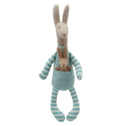 Kangaroo (Blue) - Wilberry Knitted Soft Toy