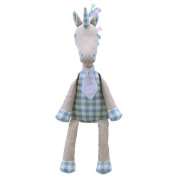 Unicorn (Blue) - Wilberry Linen Soft Toy
