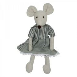 Mouse (Girl) - Wilberry Linen Soft Toy