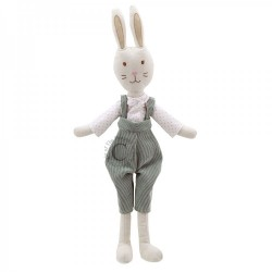 Rabbit (In Dungarees) - Wilberry Linen Soft Toy