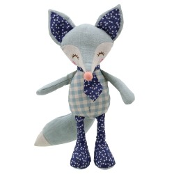 Fox (Blue) - Wilberry Linen Soft Toy