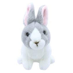 Rabbit (Grey & White) - Wilberry Mini Soft Toy