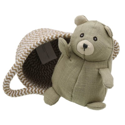 Bear - Wilberry Pets in Baskets Soft Toy