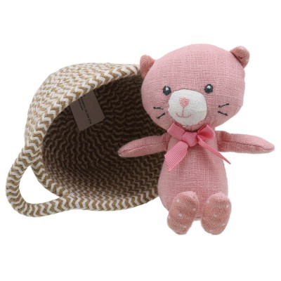Cat - Wilberry Pets in Baskets Soft Toy