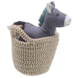 Donkey - Wilberry Pets in Baskets Soft Toy