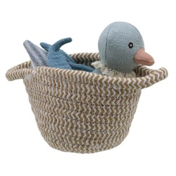 Duck (blue) - Wilberry Pets in Baskets Soft Toy