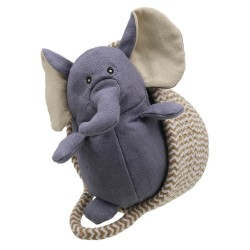 Elephant (grey) - Wilberry Pets in Baskets Soft Toy