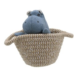 Hippo - Wilberry Pets in Baskets Soft Toy