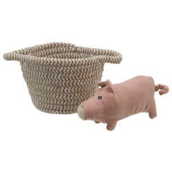 Pig - Wilberry Pets in Baskets Soft Toy