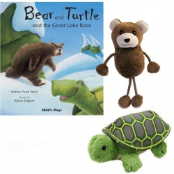 Bear and Turtle and the Great Lake Race Storytelling Collection (Finger Puppet)